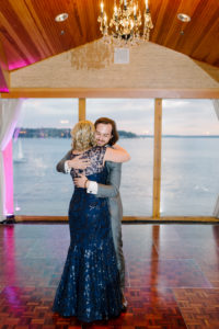 Dancing with my son Connor.